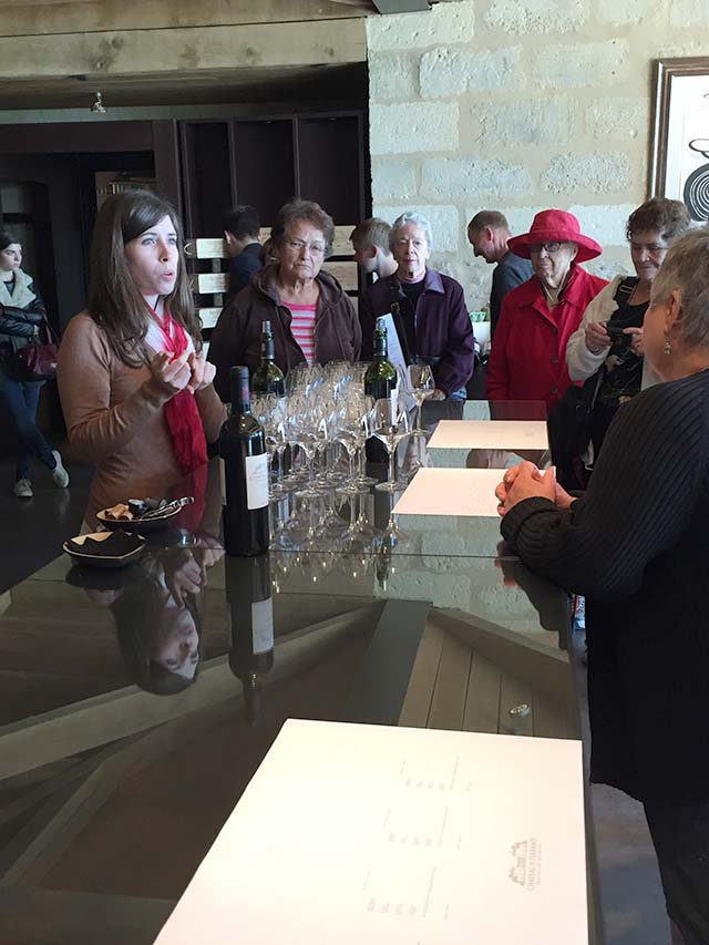 Wine tasting at Chateau de Ferrand in Saint Emilion France