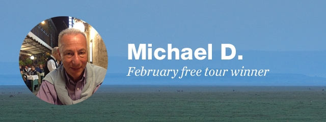 February free tour winner, Michael