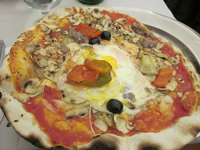 Pizza from Baffetto in Rome, Italy