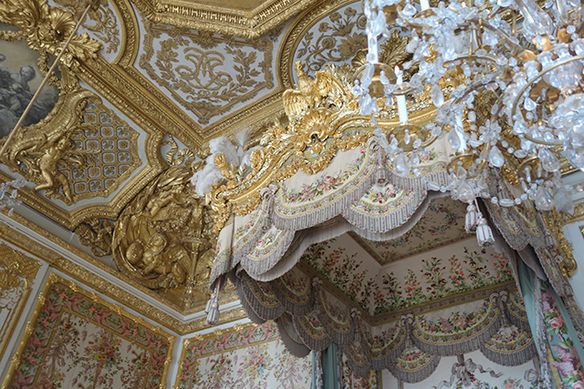 Queens's bedchamber in Versailles Palace, France