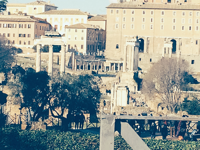 Inside the Roman Forum in Rome, Italy