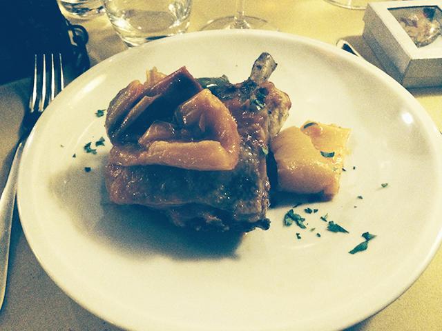 Dinner in Rome, Italy