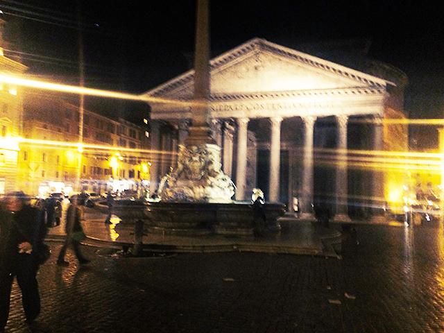 Rome's Pantheon at night