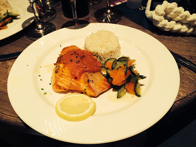 Salmon for lunch in Paris, France