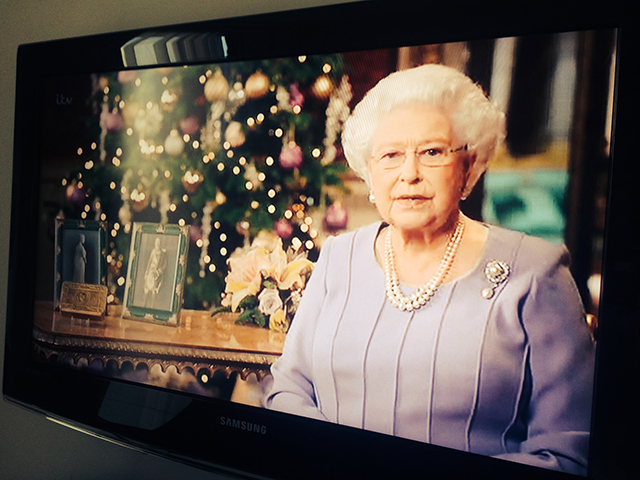 The Queen gives a televised Christmas Day speech