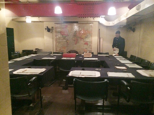 Winston Churchill's WWII bunker from the Churchill Museum