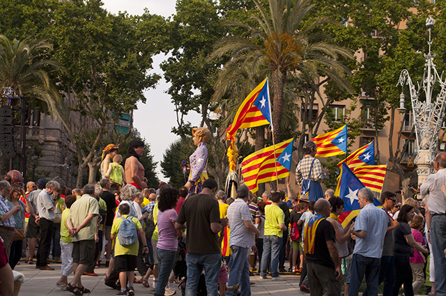 Parade in Barcelona, Spain
