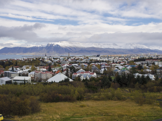 Overlooking the city of Reykjavik