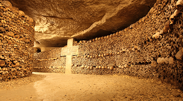 Catacombs in Paris, France