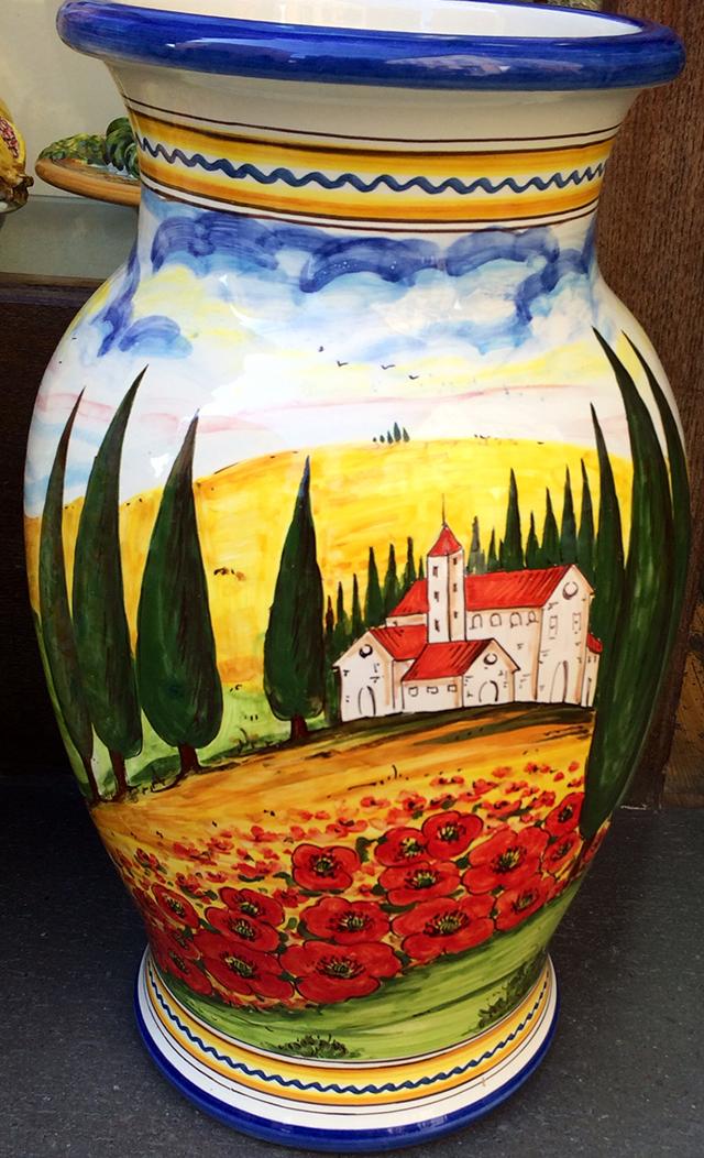 Vase in Orvieto, Italy