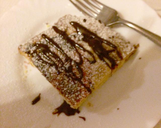 Dessert in Orvieto, Italy