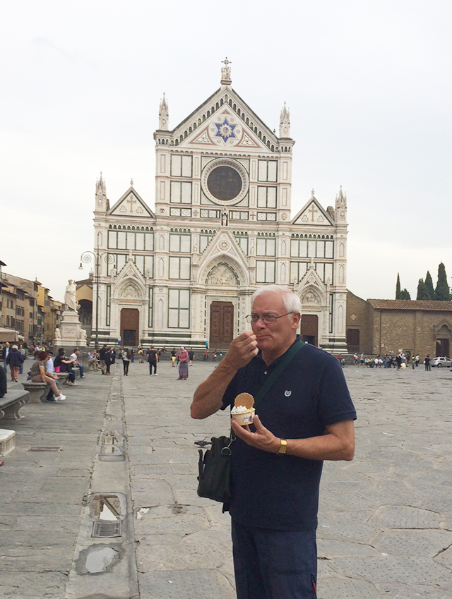 Gelato at Santa Croce in Florence, Italy