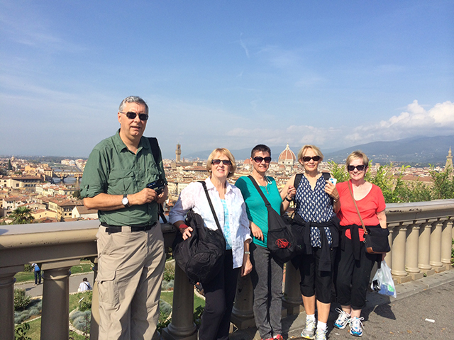 Group at Piazza Michelangelo, Florence, Italy