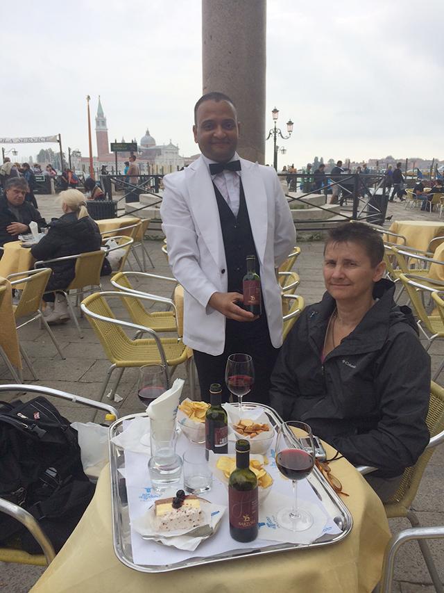 Wine in St. Mark's Square, Venice, Italy
