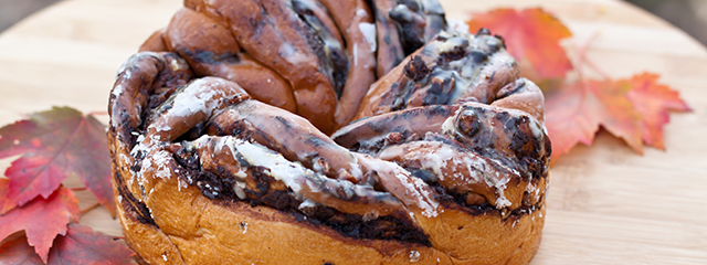 Chocolate babka is a popular treat in Poland