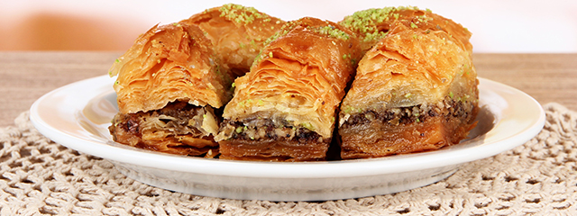Baklava is a famous Middle Eastern dessert