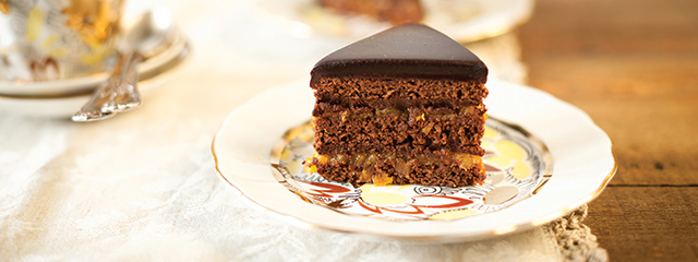 Sachertorte chocolate cake, Austria