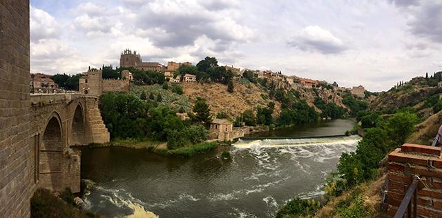 The Tagus River runs straight through Toledo, Spain