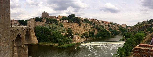 The Tagus River flows through Toledo, Spain