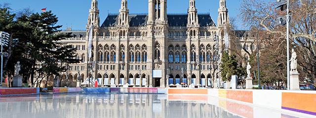 Vienna City Hall ice skating
