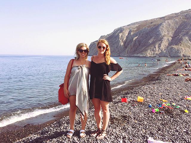 Jessie, Jenna on beach