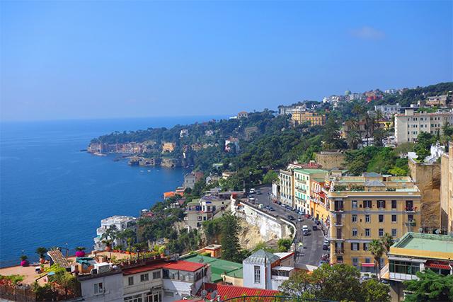 The Amalfi coast view