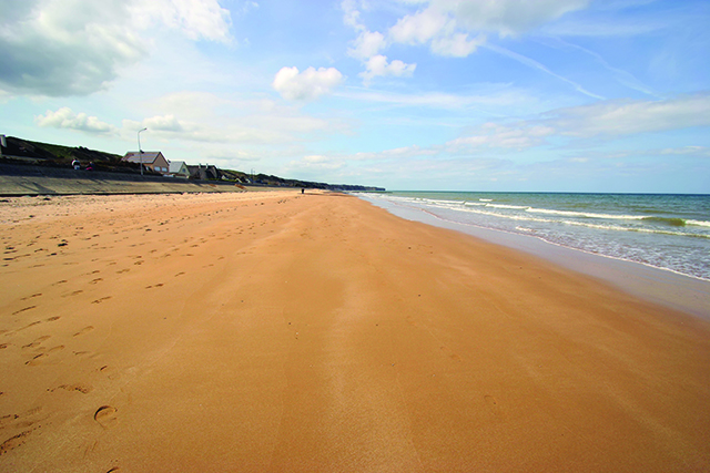 Omaha Beach - one of the principal landing sites of the D-Day