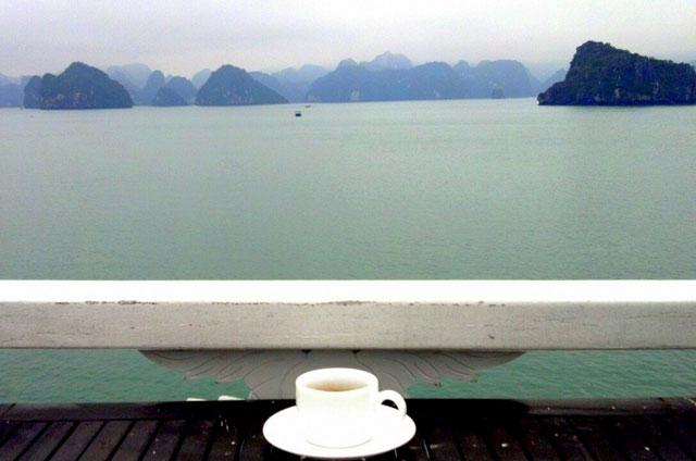 coffee on Halong Bay