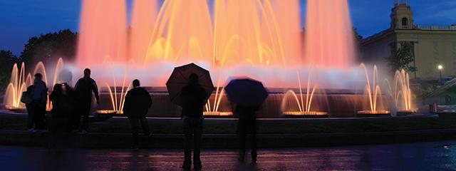 Montjuic fountain, Barcelona, Spain