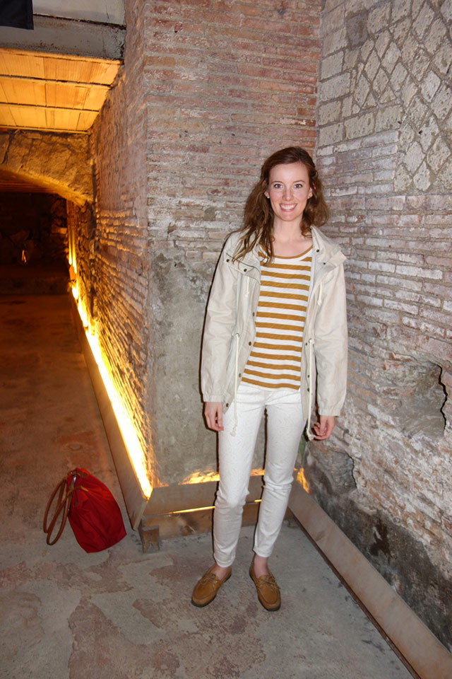 Katie exploring Naples Underground