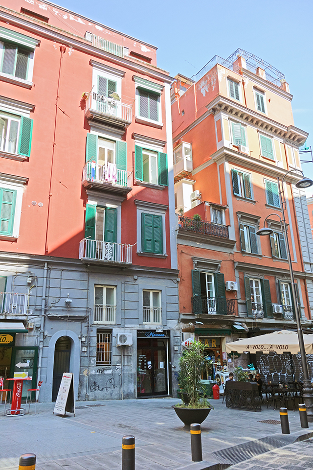 Beautiful buildings in Naples, Italy