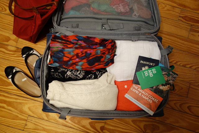 Packed-suitcase