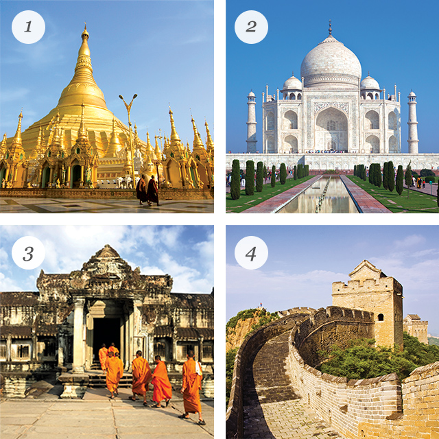 Iconic landmarks of Asia