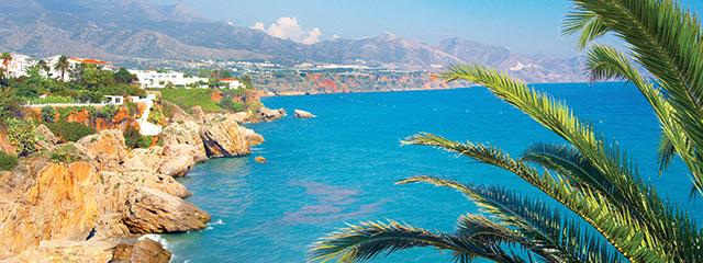 White sand beaches of Spain's Costa del Sol