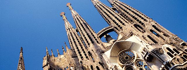 Antoni Gaudi's famous Sagrada Familia in Barcelona, Spain