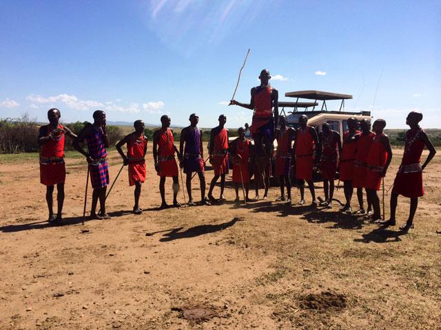 masai mara jumping dance