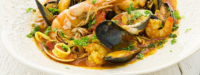 French bouillabaisse seafood soup