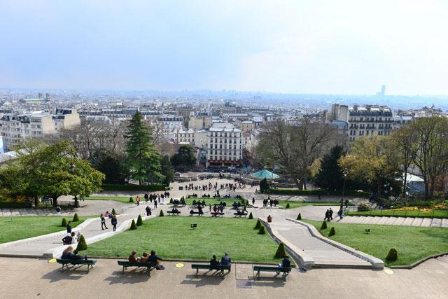 Paris view from Montmartre