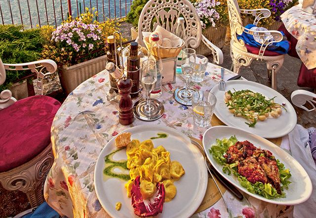 Italian meals are often served with multiple courses