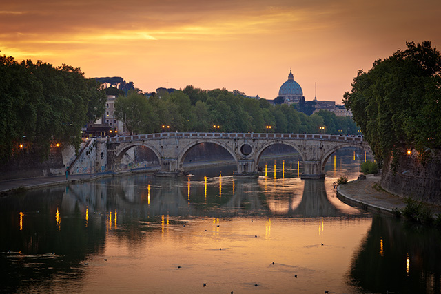 Tiber River Sunset