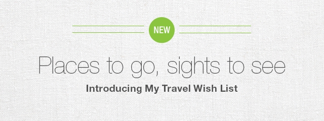My Travel Wish List