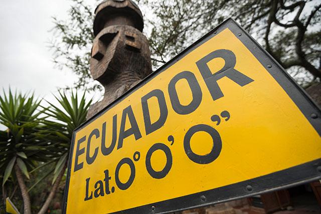 Equator Sign in Quito, Ecuador