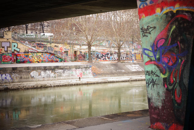 Graffiti along the Danue River Vienna