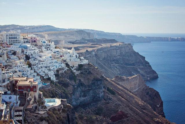 Coastal view of Santorini, Greece