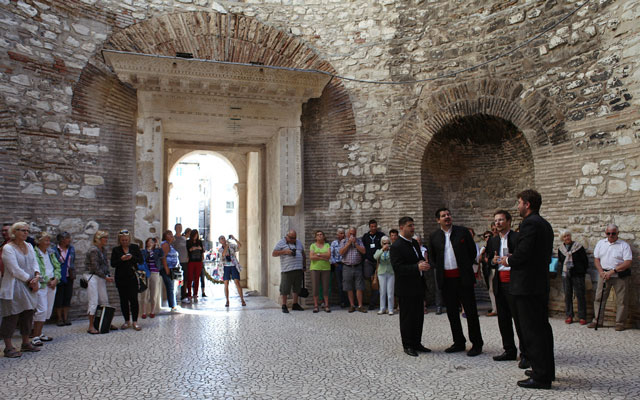 Klapa singers in Split, Croatia