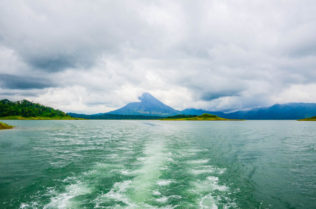 Lake Arenal with volcano view in Costa Rica