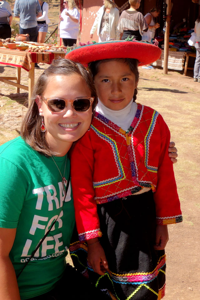 Little girl in traditional Peruvian clothing, Chincheros Village, Peru