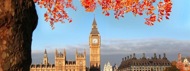 London England in Autumn