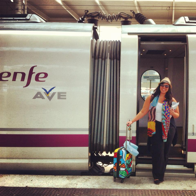 Ave train from Barcelona to Madrid, Spain