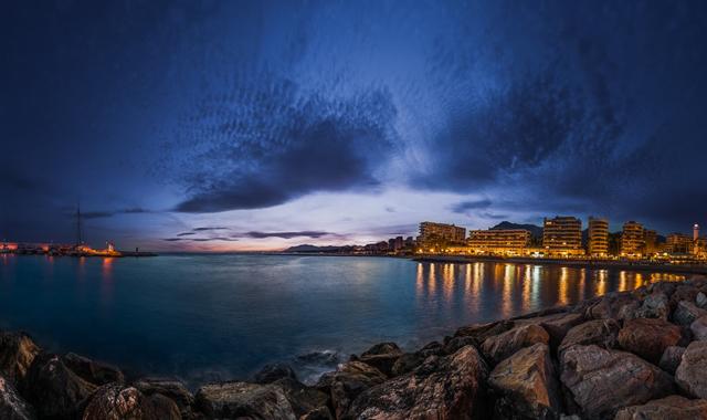 Sunset over Marbella, Costa del Sol, Spain